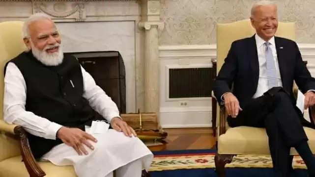 Joe Biden's joke..Prime Minister Modi smiled ..